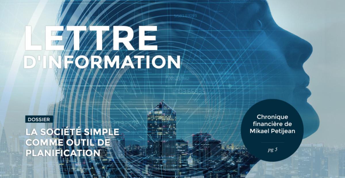 <b>Lettre d'information</b> | Nos perspectives économiques pour 2021 | La société simple | ...
